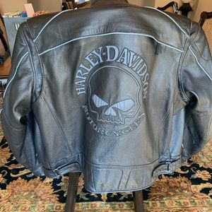 Harley Davidson Reflective Leather Jacket size 2XL